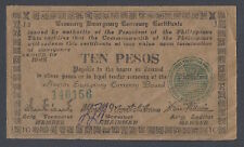 Japan - Philippines 10 Pesos Emergency  1942 Military Note