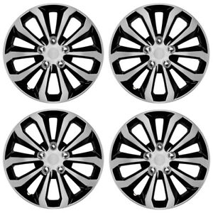 """BDK Performance Car Hubcaps 16"""" inch Set of 4 Piece Replacement Wheel Covers"""