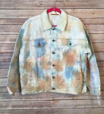 NWT Free People Womens XS-Small Oversized Tie Dye Denim Trucker Jacket $148