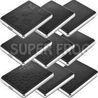Cigarette Case Super King Size Metal Box Holder Leather Tobacco 20 Cigarettes