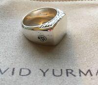 David Yurman Men's Stealing Silver Ring Size 9