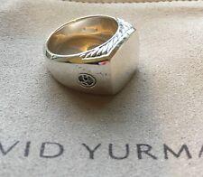 David Yurman Men's Sterling Silver Ring Size 9