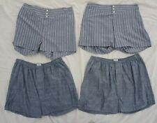 Choctaw Ridge Vintage style ReEnactor Button Yoke Indigo Denim Mens Shorts XL