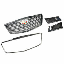2015-2019 Cadillac CTS Sedan Black Chrome Front Grille 84124949 w/ Fog Lamp Trim