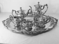 FRANCIS I by Reed and Barton Sterling Silver 6-PC TEA SET W/ LARGE TRAY