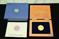 1776-1976 NATIONAL BICENTENNIAL MEDAL PROOF CONDITION 90% GOLD -ORIGINAL BOX