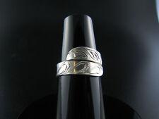 Raven Silver Wrap Ring Native Northwest Coast Salish First Nations Jewlery
