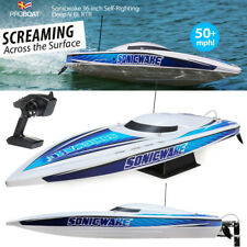 "Pro Boat Sonicwake 36"" Self-Righting Brushless Deep-V Rtr White Boat Prb08032T1"