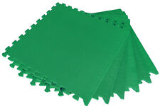 12 x GREEN AWNING CARPET FLOOR EVA MATS OUTDOOR TILES camping caravan gym