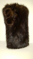 Real Dark Brown Mink Fur Eyeglass Case