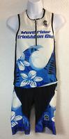 Squadra 2pc M Tri Top w/ Bottoms Pro Issue Race Suit Waverider Hawaii Triathlon