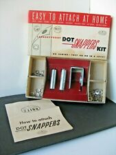 Vintage DRITZ Dot Snappers Kit # 650 Regular Size Instructions Fasteners Tools