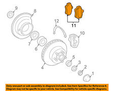 GM OEM Brake-Front Pads 19167290