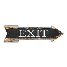 AP-0003 EXIT Arrow Street Tin Chic Sign Name Sign Home man cave Decor Gift