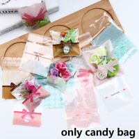 100pcs Lace Bakery Handmade Cookie Jewelry Bags Cello Self-Adhesive OPP Gift Bag