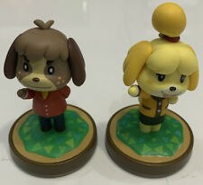 Isabelle & Digby Animal Crossing New Horizons Amiibo Figure Lot Super Smash Bros