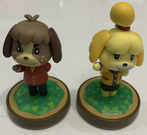 Isabelle Winter Outfit & Digby Animal Crossing New Horizons Amiibo Figure Lot