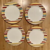"4 PFALTZGRAFF EQUATOR DINNER PLATES 11"" Perfect Condition Dishwasher Safe"
