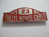 RALLYE MONTE CARLO 1979 CAR GRILL BADGE EMBLEM MG JAGUAR TRIUMPH PORSCHE FERRARI