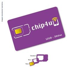 Sim card Brazil Prepaid Data Sim Card with 12 Gb of high speed data for 30 days