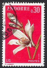 Andorra (French): Pyrenean Flowers (1st series); Lily, 30c value only, fine used