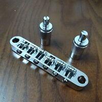Chrome Roller Saddle Bridge Tune-o-Matic for LP SG ES335 DOT Bigsby USA SHIP