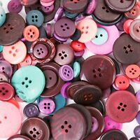 1kg SMALL - LARGE DARK COLOUR MIXED BUTTONS Sew/Sewing/Craft Card Assorted BULK