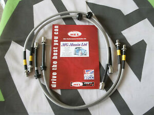 MGZT MG ZT MGZT-T Fully Stainless Steel Braided Brake Line Hose Kit