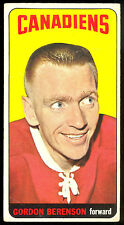 1964 65 TOPPS TALL BOYS HOCKEY #61 GORDON BERNSON VG-EX MONTREAL CANADIENS CARD