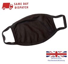 FaceMask Protective Covering Washable Reusable Black ADULT & TEEN KIDS Unisex UK