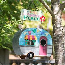 Tree Hanging Caravan Bird House Happy Garden Nesting Box Feeder Decorative Gift