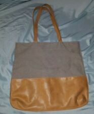 Hearth & Hand Magnolia TOTE Bag Leather Shopping Carry On Brown Travel Sack