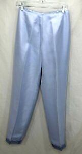 Ann Taylor Loft Lined Silk  Pants Womens Silver Blue Size 8 NWT
