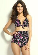 515d98c227a Flora Print Vintage Style High-waisted Bikini Set Size S