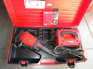 "HILTI  DG150 6"" diamond grinder professional kit w/new blade COMBO & MINT  (954)"