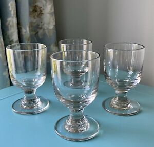 Antique 19th Century Heavy Early Rummer Glasses- Lead Type Tavern or Domestic X4