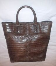 Borsa BOTTEGA VENETA Soft Crocodile - colore Marrone - Nuova con Dust bag