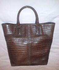 Borsa BOTTEGA VENETA Soft Crocodile - colore Marrone - Nuova con Dust bag