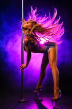 STUNNING SEXY POLE DANCER GIRL CANVAS PICTURE #200 EROTIC WALL HANGING ART