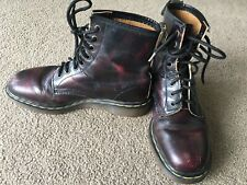 Dr. Marten's Boots 1460 Size 7 Pascal CHERRY RED ANTIQUE TEMPERLEY 8 eye England
