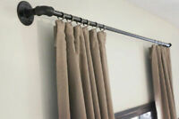 Curtain pole, curtail rail, industrial curtain rail, steampunk, vintage curtain