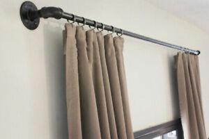Curtain pole, curtail rail, industrial curtain rail, steampunk, vintage curtain