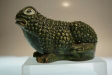 CERAMIC HANDCRAFTED  FROG TOAD GARDEN STATUE
