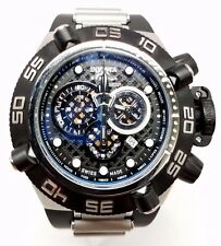 Mens Invicta Subaqua Noma IV Chronograph Black Rubber Stainless Swiss Watch