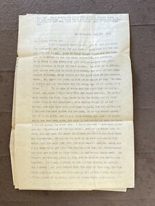 1906 San Francisco Earthquake and aftermath firsthand account mother-son letter!