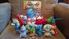McDonalds Neopets 2004 - 2005 Plushie Lot of 20 + Official Magazine Issue 21 +TC