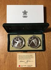 1986 1988 Calgary Olympics Silver Proof $20 CANADA #4 Figure Skating & Curling