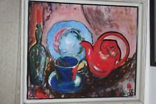 "Modernist Painting, Oil On Board In Frame Signed ""Klee"""
