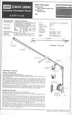 ITT/Schaub-Lorenz Original Service Manual für Golf Europa 100