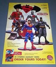 Superman/Batman Public Enemies action figures promo poster:Captain Marvel Shazam